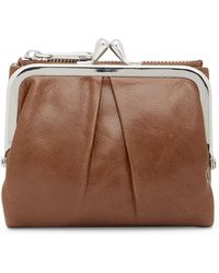 c929ed18b8a5 Lyst - Hobo Peg Leather Wallet in Brown