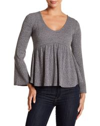 Lucky Brand - Bell Sleeve Ribbed Knit Top - Lyst