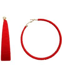 Suzanna Dai - Cord Wrapped 61mm Hoop Earrings - Lyst