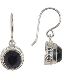 Anna Beck - Sterling Silver Black Onyx Drop Earrings - Lyst