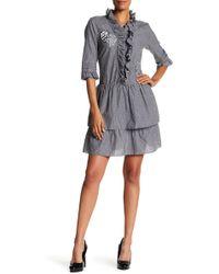 Vivienne Tam - Deco Flower Applique Dress - Lyst