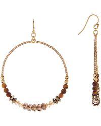Chan Luu - 18k Gold Plated Sterling Silver Faceted Mixed Crystal Hoop Drop Earrings - Lyst