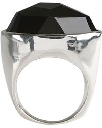 Ippolita - Sterling Silver Bezel Set Faceted Black Onyx Ring - Lyst