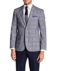 Ben Sherman - Glen Two Button Notch Collar Plaid Sports Coat - Lyst