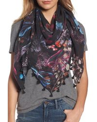 Hinge - Butterfly Collage Square Silk Scarf - Lyst