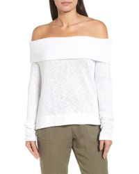 Caslon - Convertible Neck Knit Pullover - Lyst