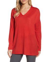 Eileen Fisher - Merino Wool Tunic Sweater (petite) - Lyst