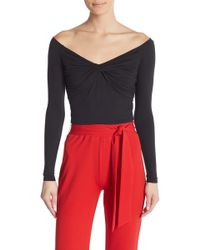 Material Girl - Off-the-shoulder Twist Front Top - Lyst