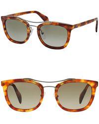 Prada - All Designer Products - Men's Catwalk Society Square Light 52mm Sunglasses - Lyst