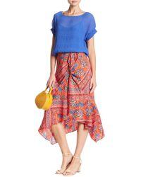 Laundry by Shelli Segal - Printed Asymmetrical Skirt - Lyst