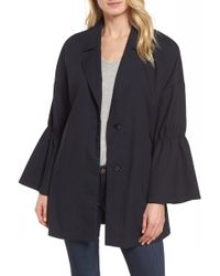 Halogen - Bell Sleeve Trench Coat (regular & Petite) - Lyst