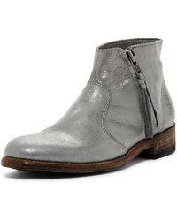 Blackstone - Leather Bootie - Lyst
