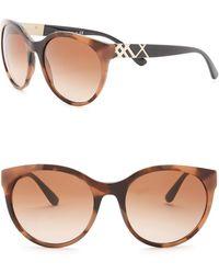 2badbfe2a55 Lyst - Burberry 56mm Retro Sunglasses in Black