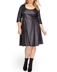 Addition Elle - Lace-up Swing Dress (plus Size) - Lyst