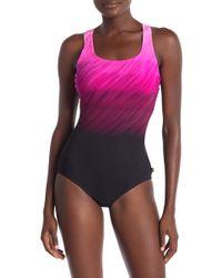 Reebok - Wind Blown One-piece Swimsuit - Lyst