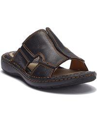 Born - Robert Leather Slide Sandal - Lyst