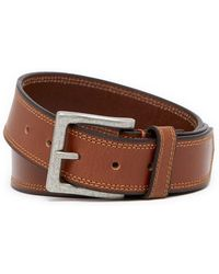Boconi - Leather Topstitched Belt - Lyst