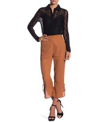 Honey Punch - Cropped Print Pants - Lyst
