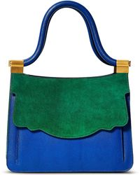 Thale Blanc - Saffiano Leather Audrey Tote - Lyst