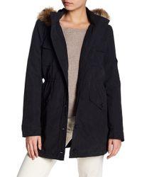Jack BB Dakota - Medici Faux Fur Trim Hooded Jacket - Lyst