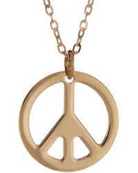 KARAT RUSH - 14k Yellow Gold Open Silhouette Peace Symbol Pendant Necklace - Lyst