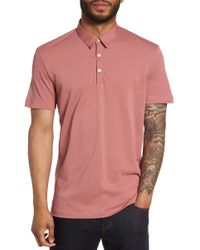 Theory - Bound Placket Air Pique Polo - Lyst