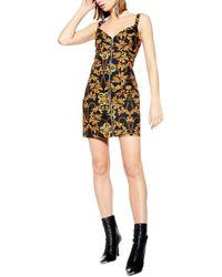 af4b3df0a91 TOPSHOP Daisy Spot Tunic Dress in Black - Lyst
