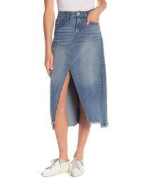William Rast - Cutout Full Length Denim Skirt - Lyst