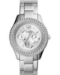Fossil - Women's Stella Crystal Bracelet Watch, 38mm - Lyst