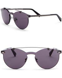 Z Zegna - 56mm Rimless Browbar Sunglasses - Lyst