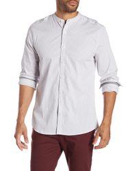 Kenneth Cole - Mock Neck Regular Fit Shirt - Lyst