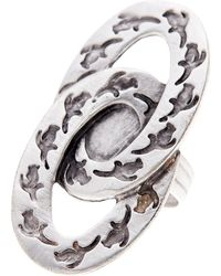 TMRW STUDIO - Antique Silver Plated Pewter Double Penguin Ring Adjustable Ring - Lyst