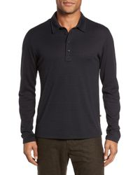 Billy Reid - Smith Long Sleeve Striped Slim Fit Polo - Lyst