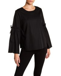 Cece by Cynthia Steffe - Ruffle Bell Sleeve Blouse - Lyst