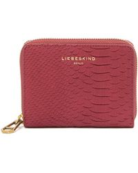 Liebeskind Berlin - Conny Python Embossed Leather Coin Wallet - Lyst