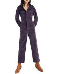 25df9db6713 Lyst - Madewell Denim Riveter Coverall Jumpsuit in Blue