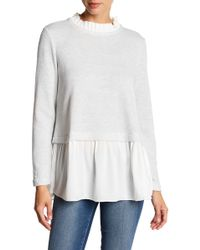 Beach Lunch Lounge - Shaina Ruffle Twofer Sweater - Lyst