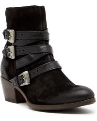 Miz Mooz - Darien Buckled Leather Boot - Lyst