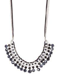 c.A.K.e. By Ali Khan - Michelle Faceted Glass Bead Bib Necklace & Earrings 2-piece Set - Lyst