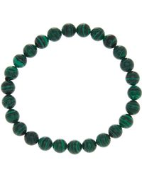 Steve Madden - Malachite Beaded Bracelet - Lyst