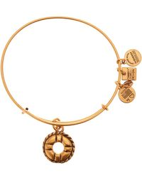 ALEX AND ANI - Charity By Design Life Preserver Charm Expandable Wire Bangle - Lyst