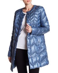 Via Spiga - Chevron Puffer Jacket - Lyst