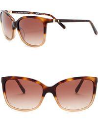 Kate Spade - Kasie 55mm Square Sunglasses - Lyst