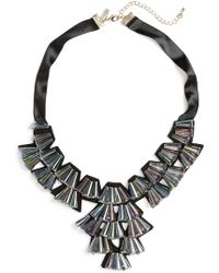 TOPSHOP - Crystal Fan Collar Necklace - Lyst