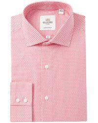 Ben Sherman - Tailored Slim Fit Gingham Dress Shirt - Lyst