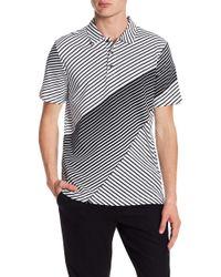 Perry Ellis - Variegated Stripe Polo Shirt - Lyst