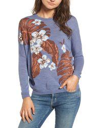 Paul & Joe - Blue Palm Sweater - Lyst