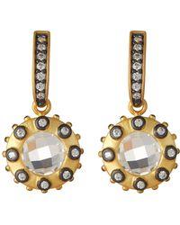 Freida Rothman - Two-tone Rosecut Starburst Drop Earrings - Lyst