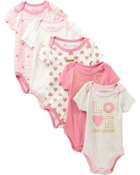 Juicy Couture - Heart Bodysuits - Pack Of 5 (baby Girls) - Lyst