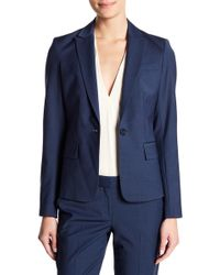 Theory - Gabe Continuous Wool Blend Blazer - Lyst